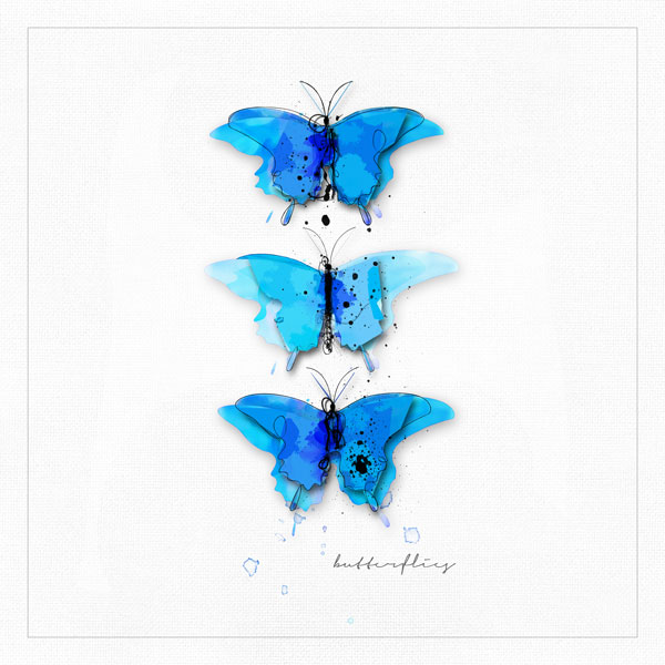 Painted-butterflies